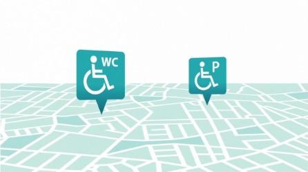 Cómo encontrar baños y estacionamiento accesibles